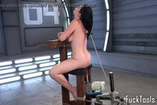 Machine loving babe gagged and restrained