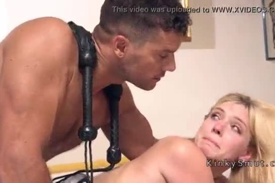 Blackmailed wife anal banged in bondage